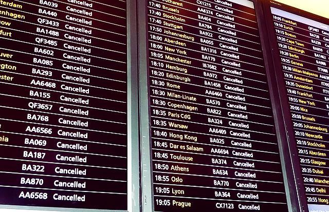 航班被取消