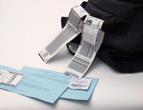 撕除舊有的行李條碼