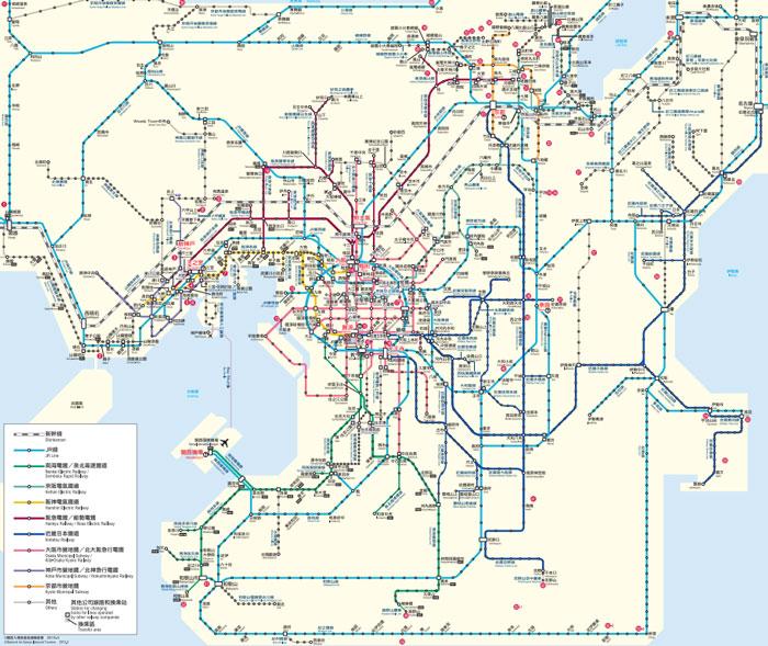關西地區地鐵圖