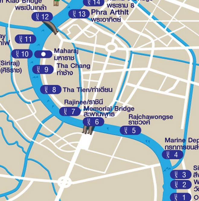 曼谷快船完整航線圖