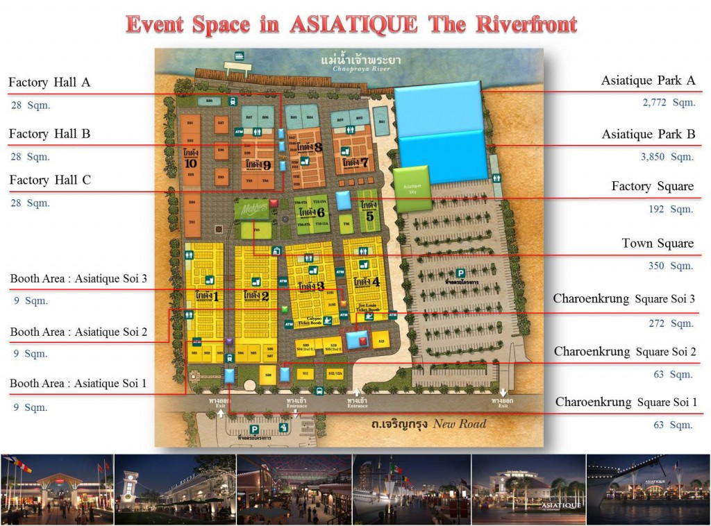 Aisatique碼頭夜市地圖