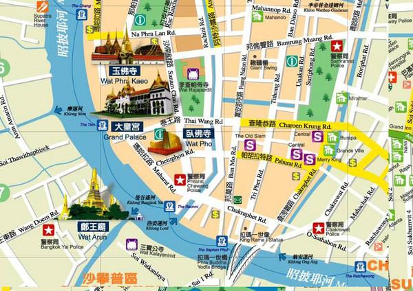 大皇宮周邊景店地圖