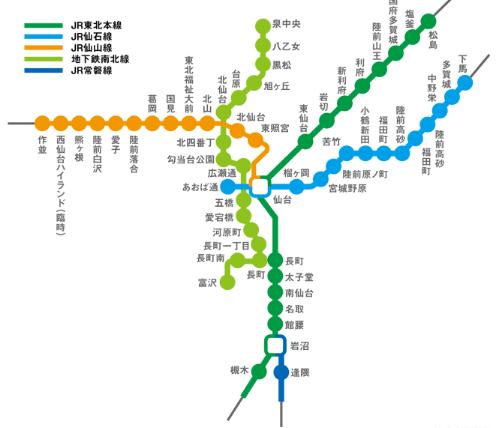 仙台JR路線圖