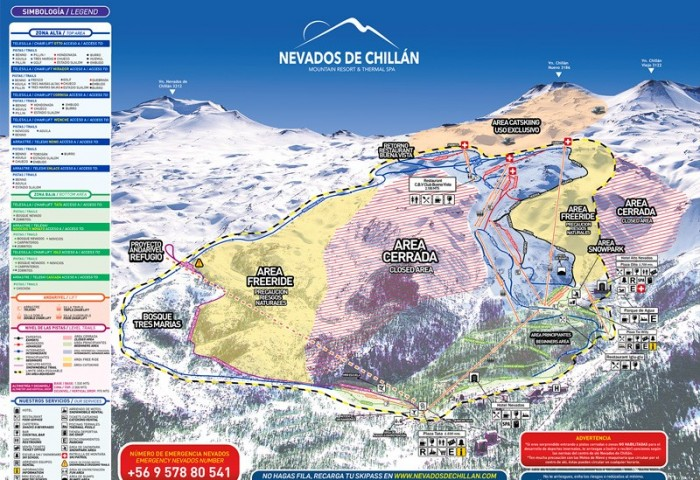 Nevados de Chillan奇廉滑雪場