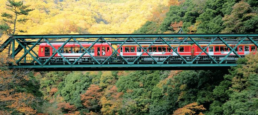 綉球橋X早川X早川橋(出山鐵橋)
