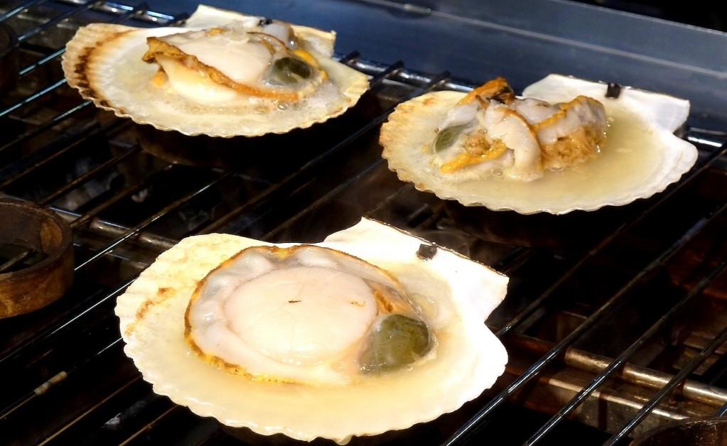 烤扇貝海膽