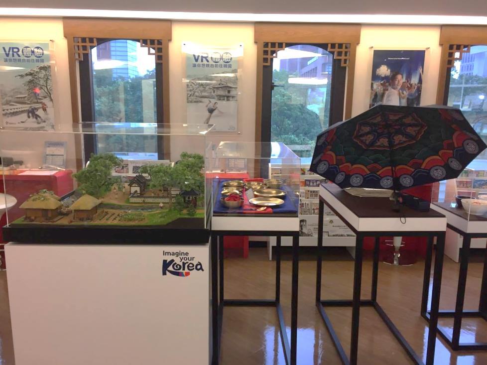 韓國美食、物品展示