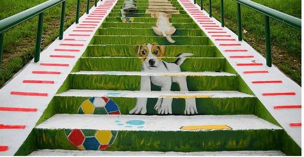蘆洲彩繪階梯