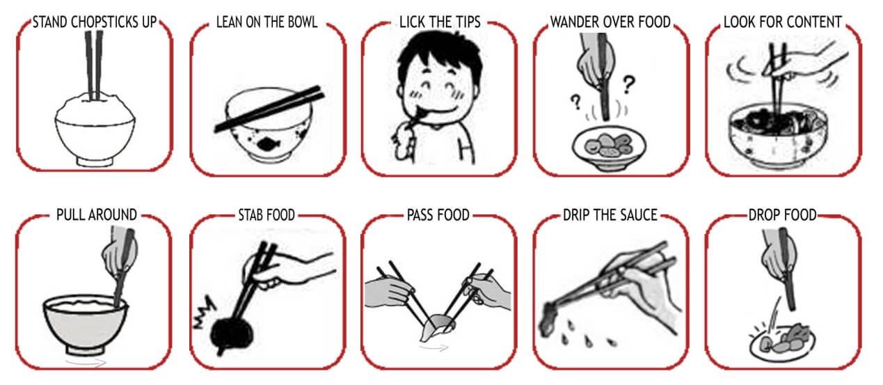 不能用筷子傳遞食物