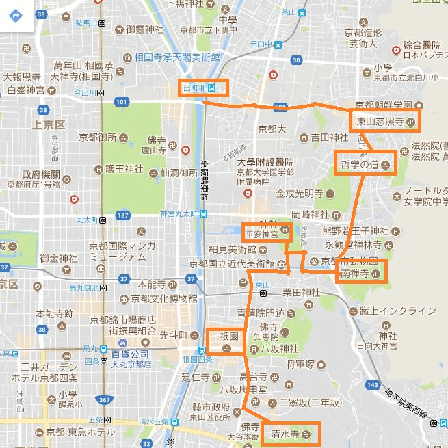 腳踏車一日遊的路線