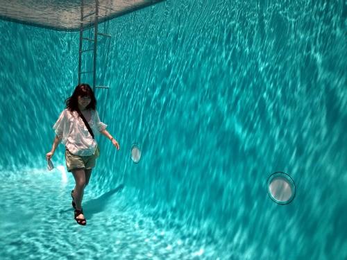 藝術家林德羅.厄利什的作品《泳池》