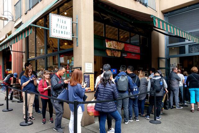 【西雅圖。食】網友激推來到Pike Place Market-No.1必吃的Pike Place Chowder