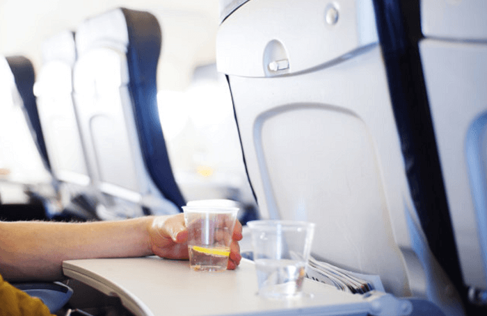 飛機上的水
